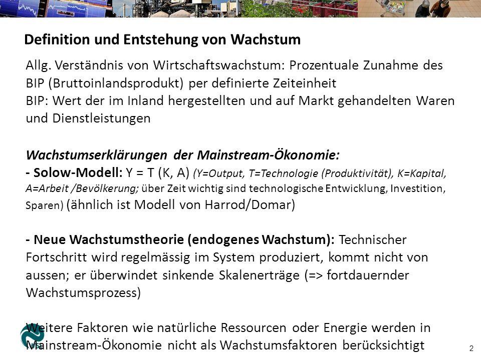 Definition und Entstehung von Wachstum 2 Allg.