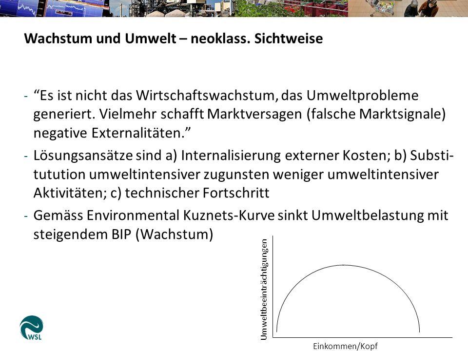 - Es ist nicht das Wirtschaftswachstum, das Umweltprobleme generiert.