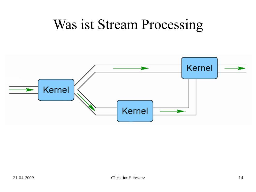 21.04.2009Christian Schwarz14 Was ist Stream Processing