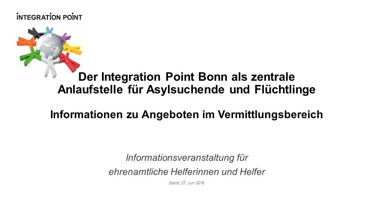 Informationsveranstaltung für ehrenamtliche Helferinnen und Helfer Stand: 27.