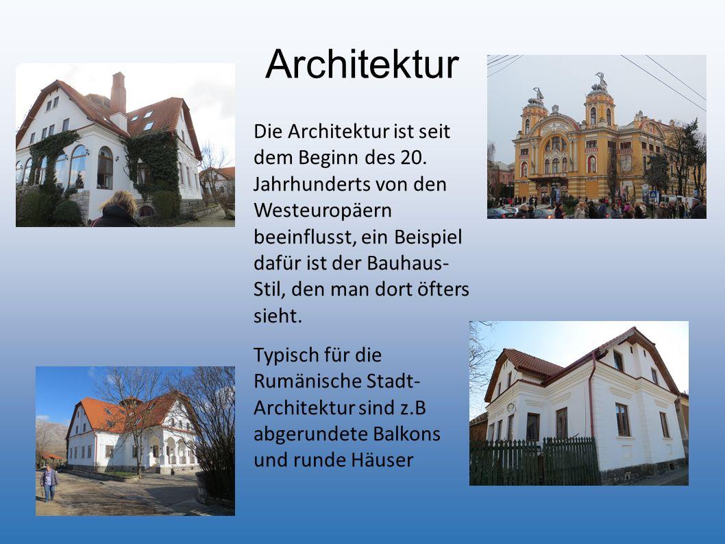 Architektur Die Architektur ist seit dem Beginn des 20. Jahrhunderts von den Westeuropäern beeinflusst, ein Beispiel dafür ist der Bauhaus- Stil, den