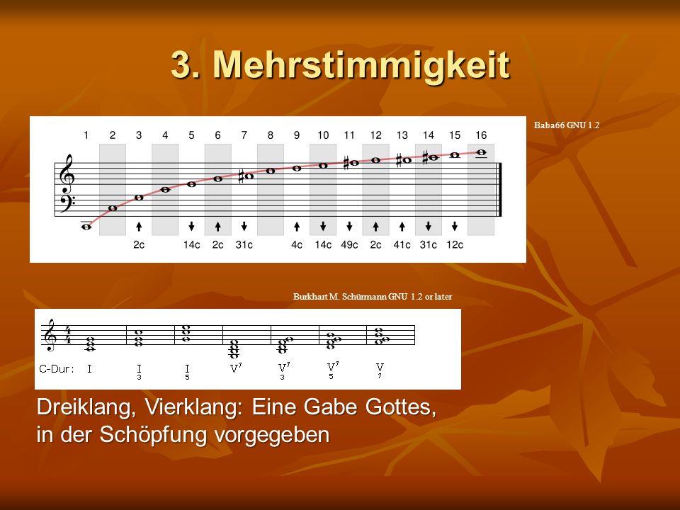 3. Mehrstimmigkeit Dreiklang, Vierklang: Eine Gabe Gottes, in der Schöpfung vorgegeben Baba66 GNU 1.2 Burkhart M. Schürmann GNU 1.2 or later