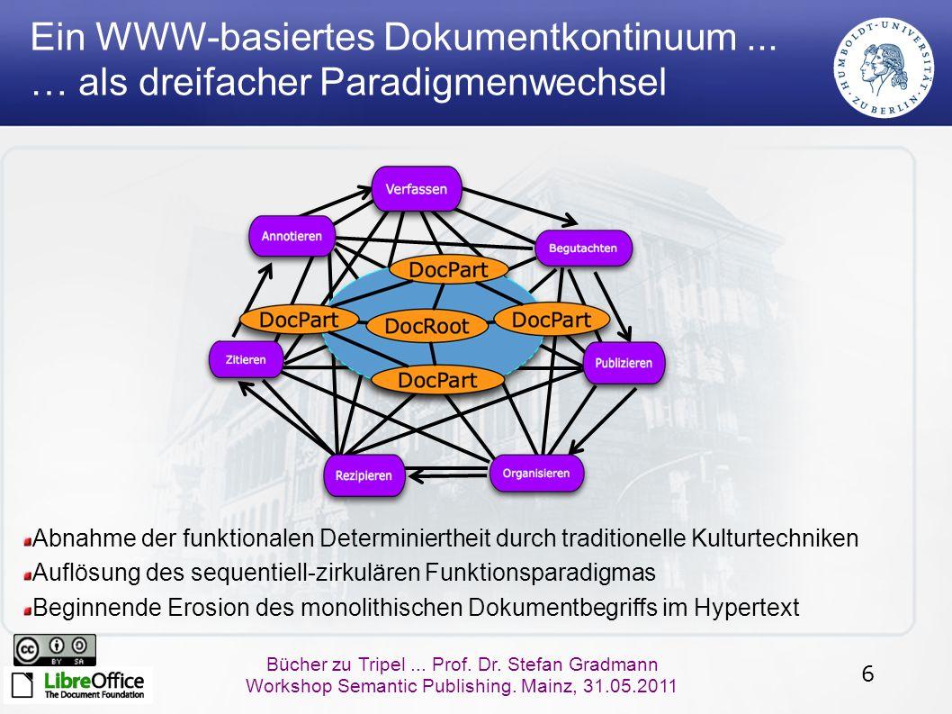67 Bücher zu Tripel...Prof. Dr. Stefan Gradmann Workshop Semantic Publishing.