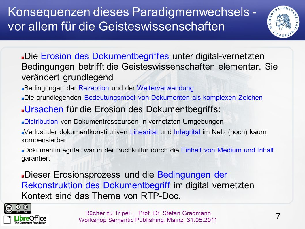 18 Bücher zu Tripel...Prof. Dr. Stefan Gradmann Workshop Semantic Publishing.