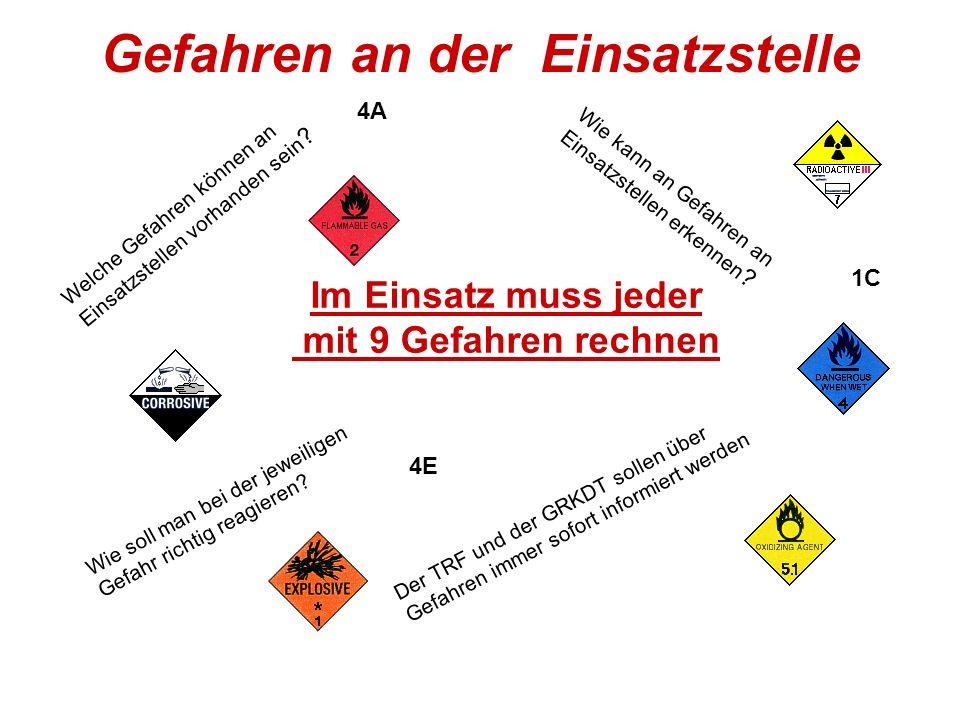 Gefahren an der Einsatzstelle Welche Gefahren können an Einsatzstellen vorhanden sein .