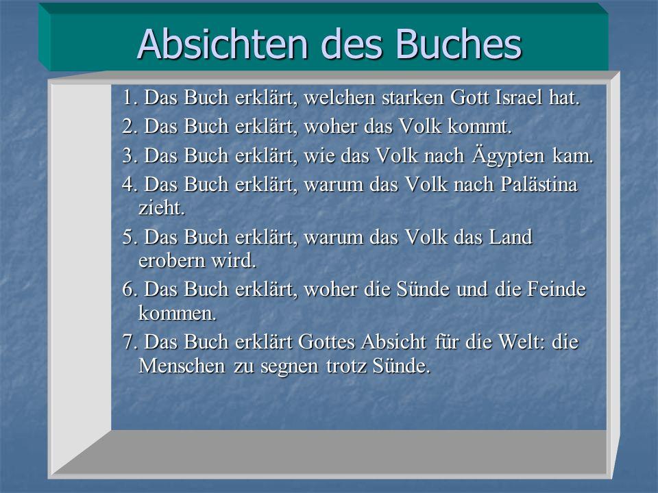 Absichten des Buches 1.Das Buch erklärt, welchen starken Gott Israel hat.