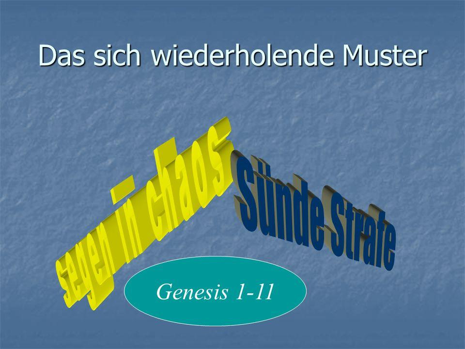 Grobe Gliederung Kapitel 1-11 Kapitel 1-11 Schöpfung Schöpfung Sündenfall Sündenfall Sintflut Sintflut Sprachverwirrung Sprachverwirrung Kapitel 12-50