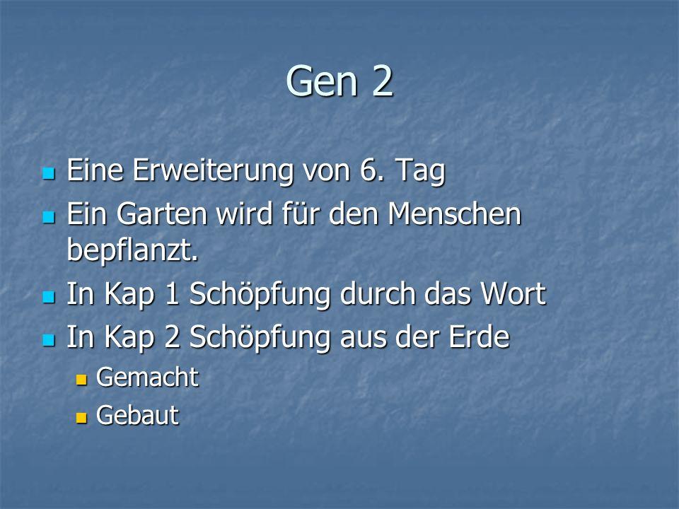 Gen 2 Eine Erweiterung von 6.Tag Eine Erweiterung von 6.