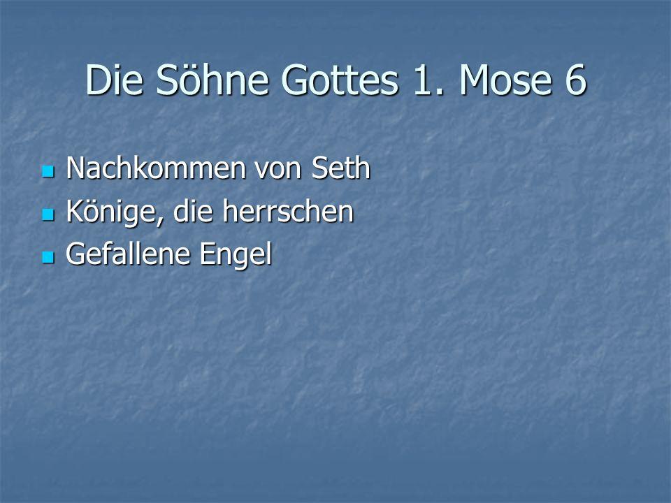 Die Söhne Gottes 1.