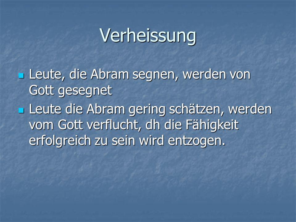 Der Bund mit Abram 1.