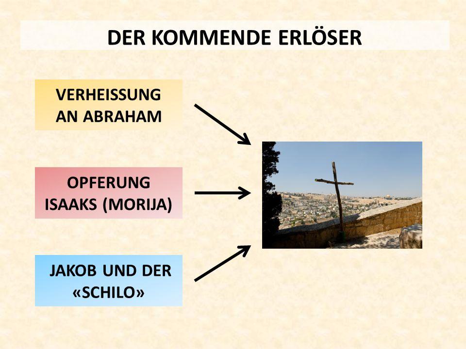 DER KOMMENDE ERLÖSER OPFERUNG ISAAKS (MORIJA) VERHEISSUNG AN ABRAHAM JAKOB UND DER «SCHILO»