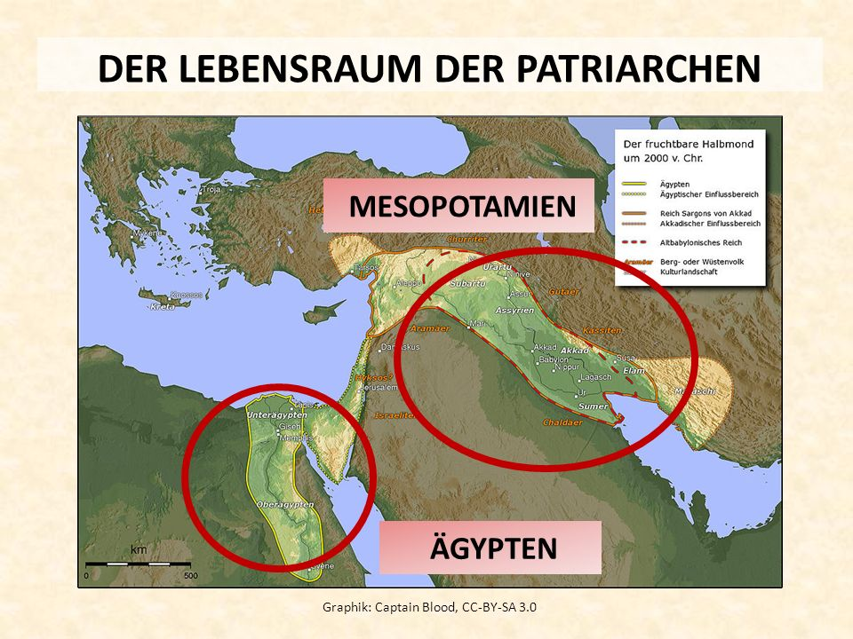 DER LEBENSRAUM DER PATRIARCHEN Graphik: Captain Blood, CC-BY-SA 3.0 MESOPOTAMIEN ÄGYPTEN