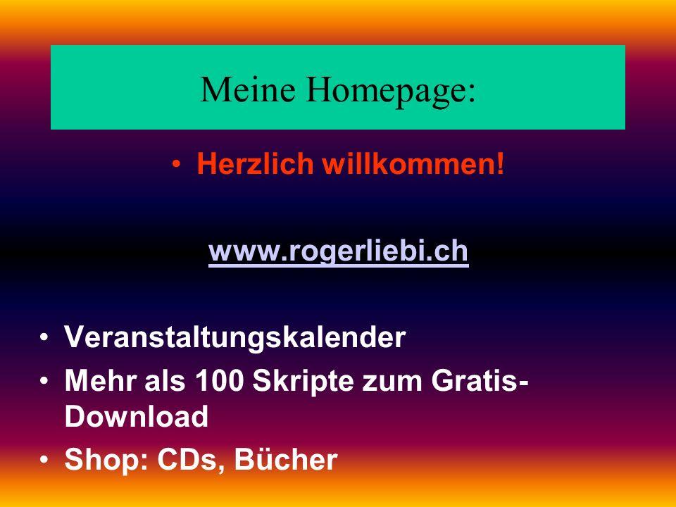 Meine Homepage: Herzlich willkommen.