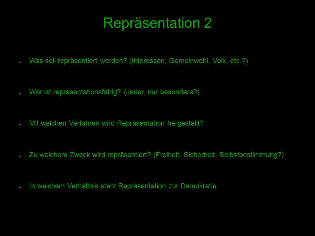 12 Repräsentation 2 ● Was soll repräsentiert werden.