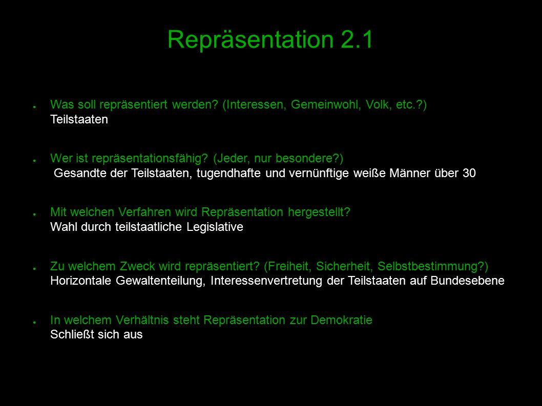 13 Repräsentation 2.1 ● Was soll repräsentiert werden.