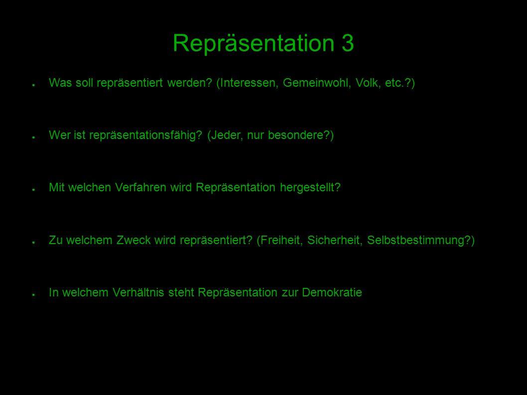 15 Repräsentation 3 ● Was soll repräsentiert werden.