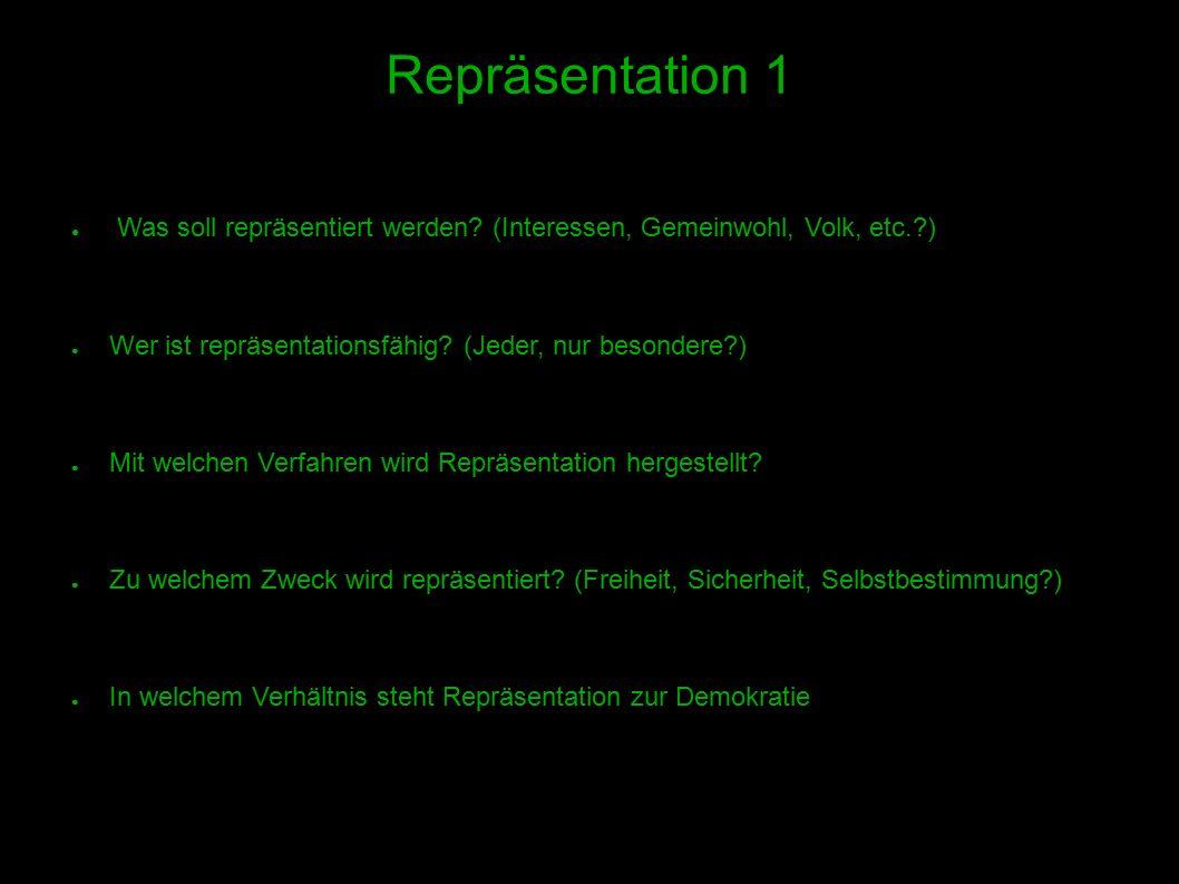 9 Repräsentation 1 ● Was soll repräsentiert werden.