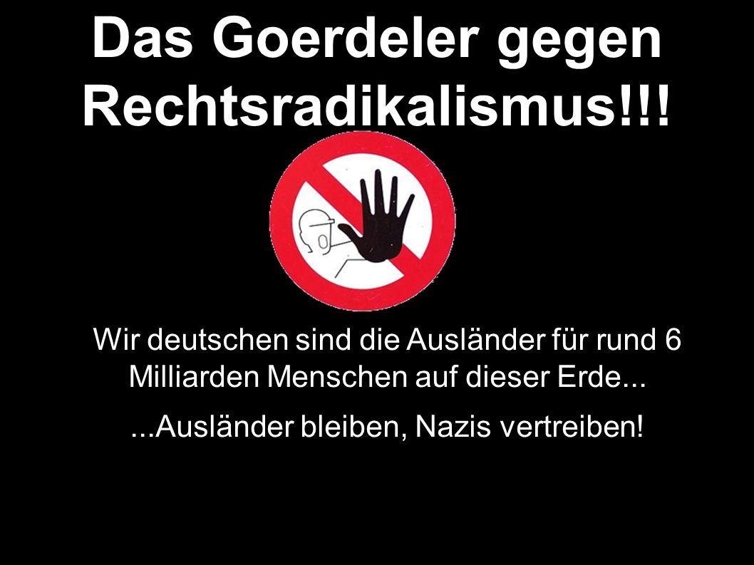Das Goerdeler gegen Rechtsradikalismus!!.