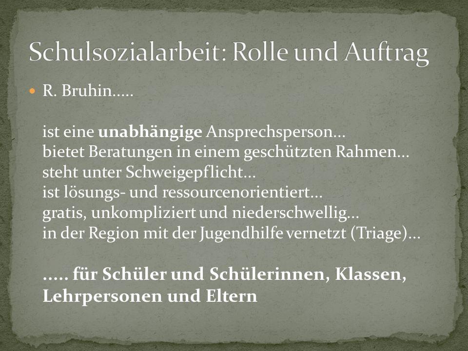 R. Bruhin..... ist eine unabhängige Ansprechsperson...