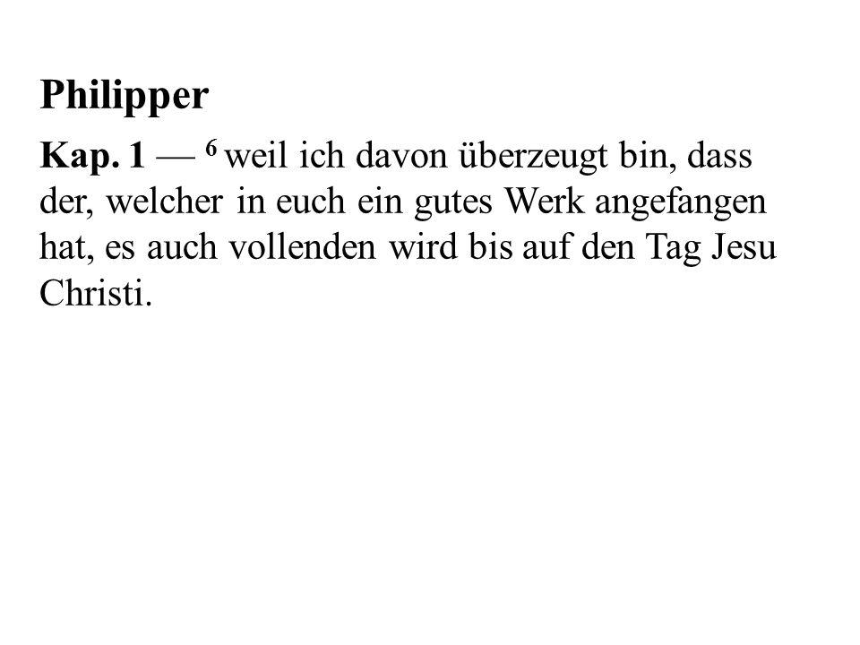 Philipper Kap.
