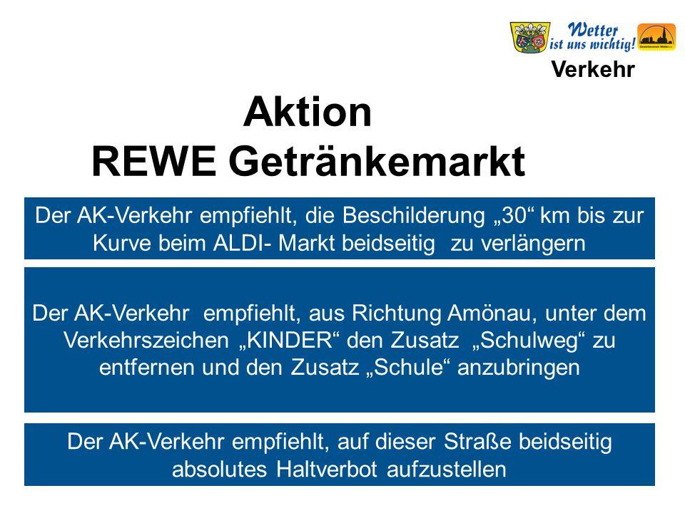 """Verkehr Der AK-Verkehr empfiehlt, die Beschilderung """"30"""" km bis zur Kurve beim ALDI- Markt beidseitig zu verlängern Der AK-Verkehr empfiehlt, aus Rich"""