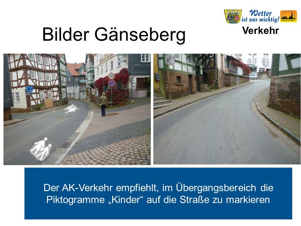 """Verkehr Der AK-Verkehr empfiehlt, im Übergangsbereich die Piktogramme """"Kinder"""" auf die Straße zu markieren Bilder Gänseberg"""