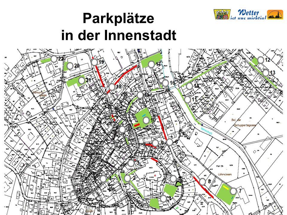 Verkehr Parkplätze in der Innenstadt