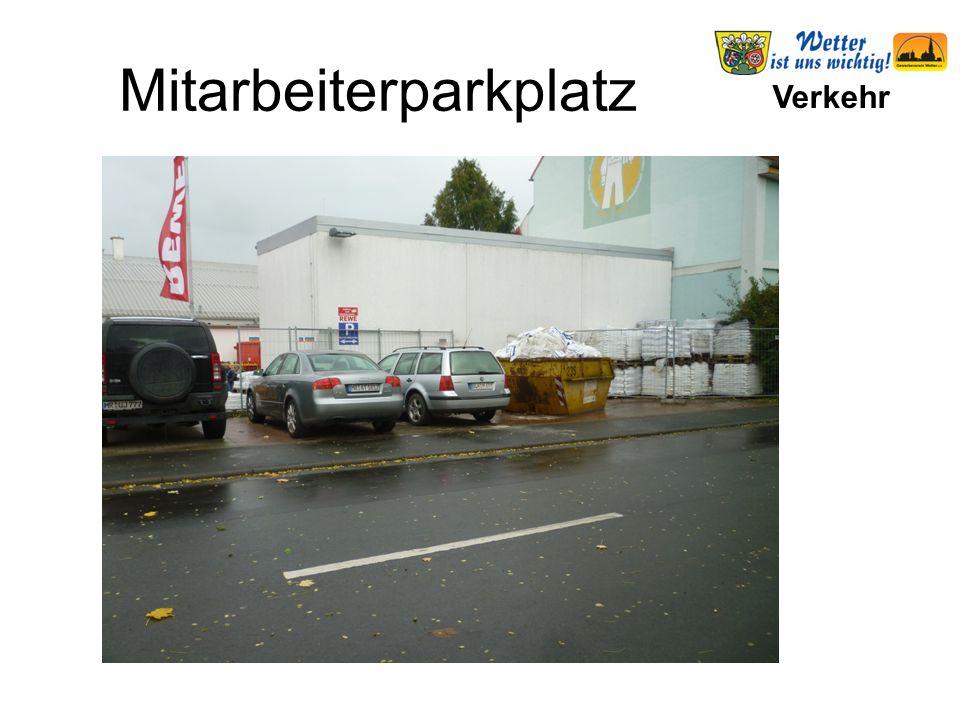 Verkehr Mitarbeiterparkplatz