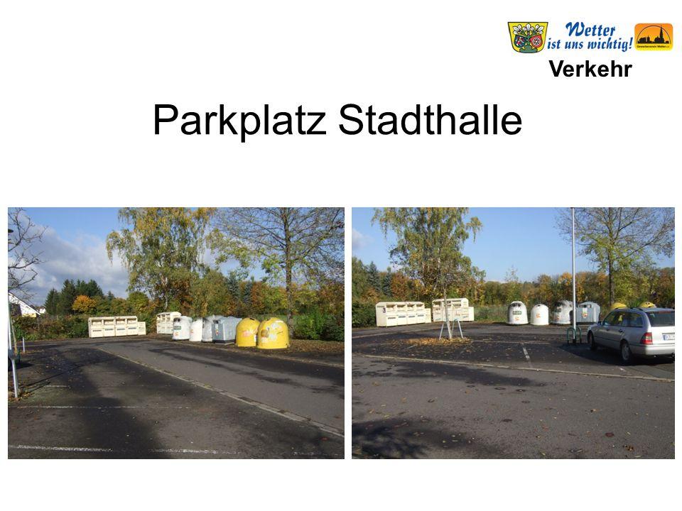 Verkehr Parkplatz Stadthalle