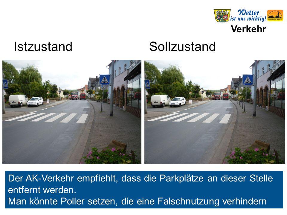 Verkehr Parkplatzsituation Seite 2 11Auewegfrei25 12 Bahnhof (P+R) frei10 13Am Bahnhoffrei91 14 Bahnhofstraße1 Stunde Werktags 7-18 h 171 gewünscht 3 Std.