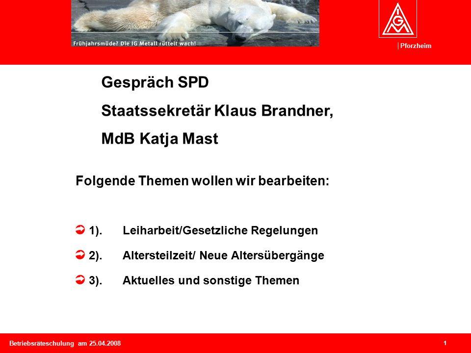 Pforzheim 2 Betriebsräteschulung am 25.04.2008