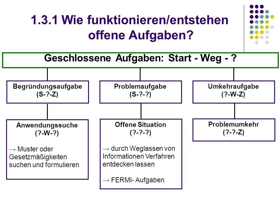 1.3.1 Wie funktionieren/entstehen offene Aufgaben.
