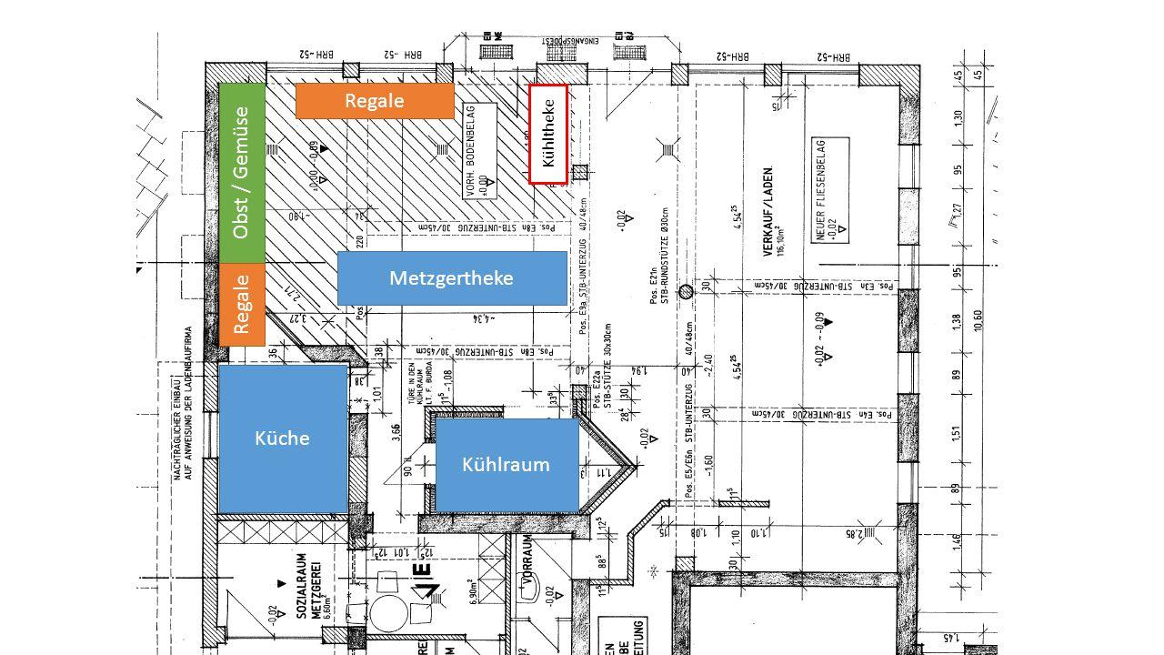 Ein Treffpunkt zum Einkaufen mitten im Ort Notwendige Investitionen Umbau des Verkaufsraumes Übernahme von Teilen der Verkaufstheke Regalausstattung Kühltheke für Milchprodukte Küchenausstattung Kassensystem und Waagen Metzgereiausstattung (Aufschnittmaschinen, Vakuumierer, Fleischwolf) Kaffeemaschine