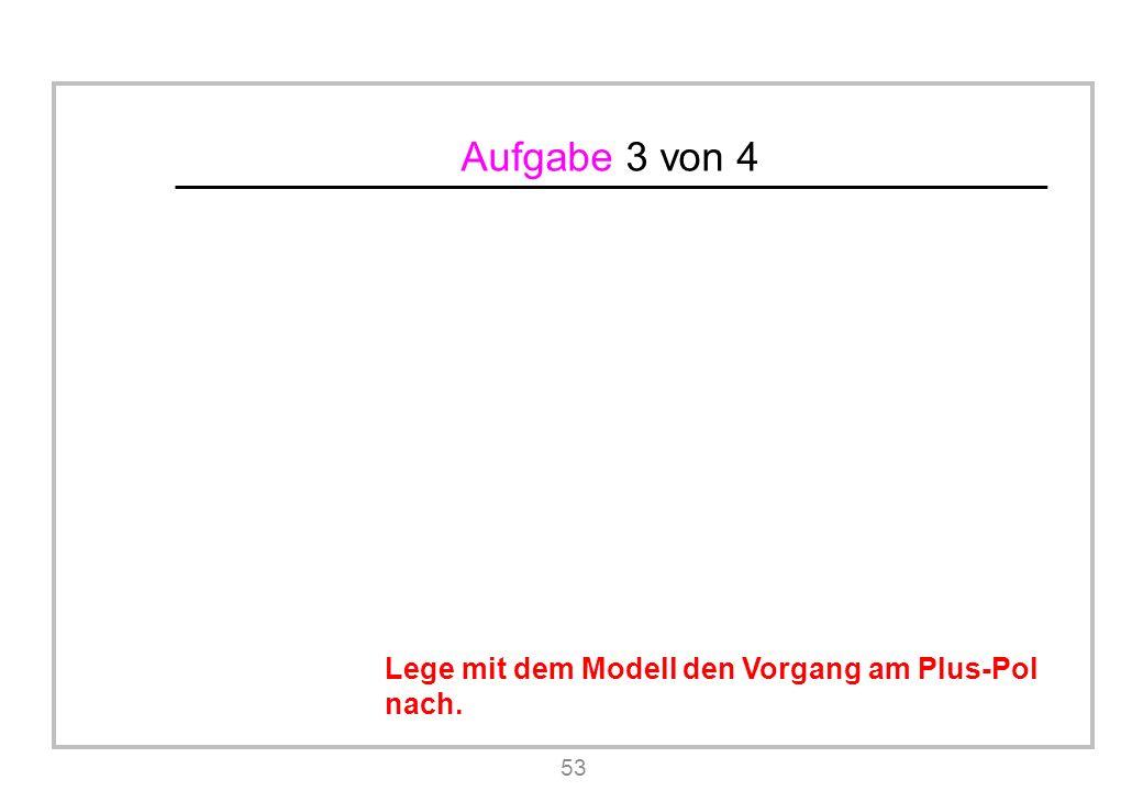 Aufgabe 3 von 4 53 Lege mit dem Modell den Vorgang am Plus-Pol nach.