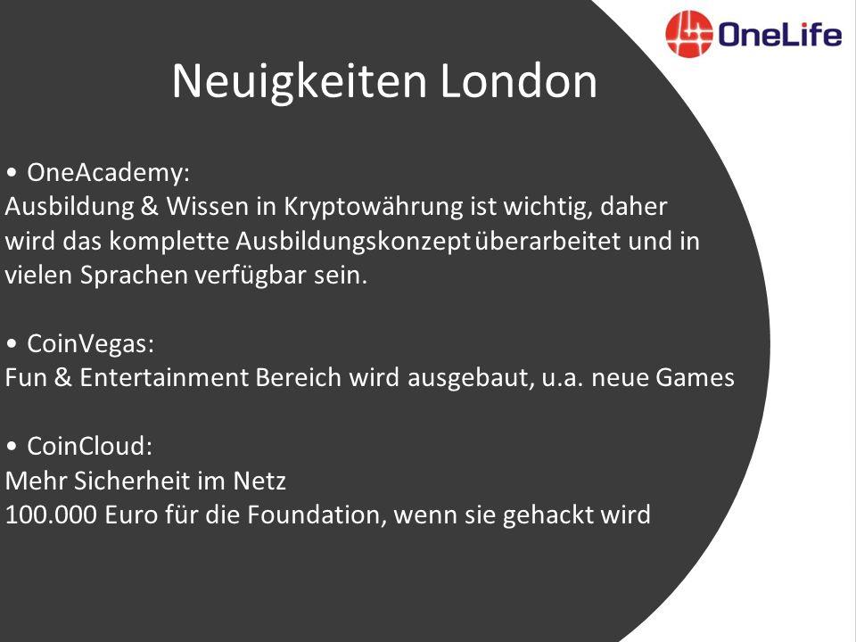 Neuigkeiten London OneAcademy: Ausbildung & Wissen in Kryptowährung ist wichtig, daher wird das komplette Ausbildungskonzept überarbeitet und in vielen Sprachen verfügbar sein.