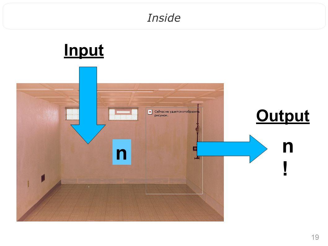 19 Inside n!n! n Output Input