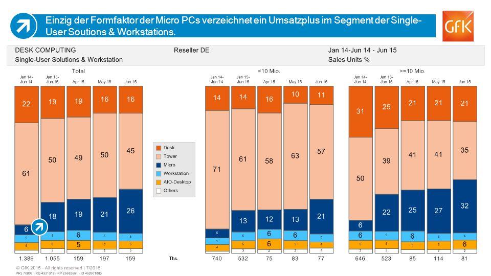 12 Einzig der Formfaktor der Micro PCs verzeichnet ein Umsatzplus im Segment der Single- User Soutions & Workstations.