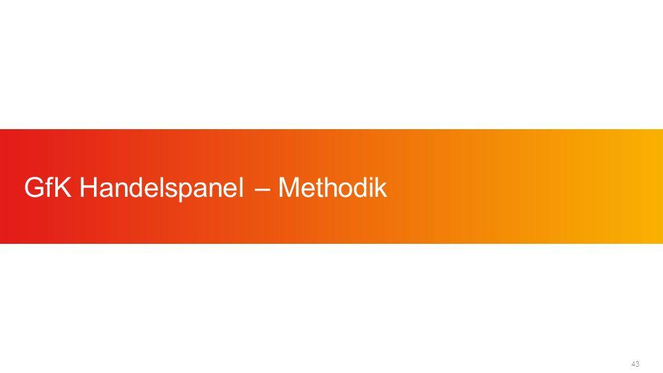 43 GfK Handelspanel – Methodik