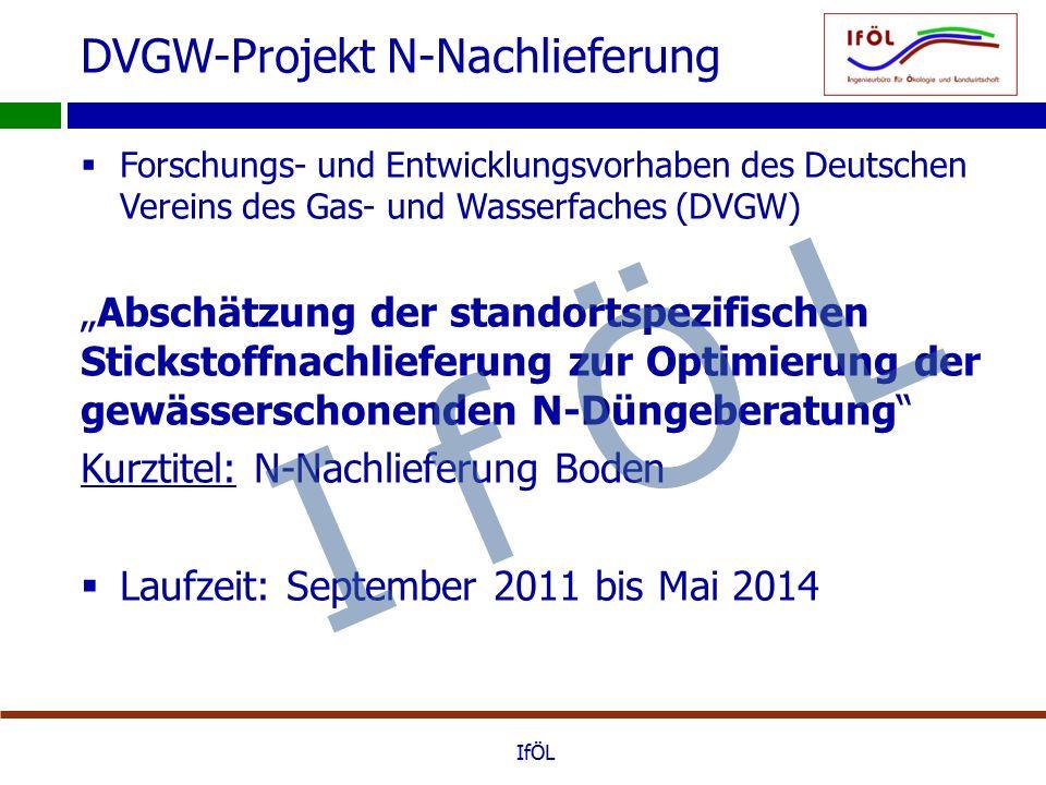 """DVGW-Projekt N-Nachlieferung  Forschungs- und Entwicklungsvorhaben des Deutschen Vereins des Gas- und Wasserfaches (DVGW) """"Abschätzung der standortsp"""