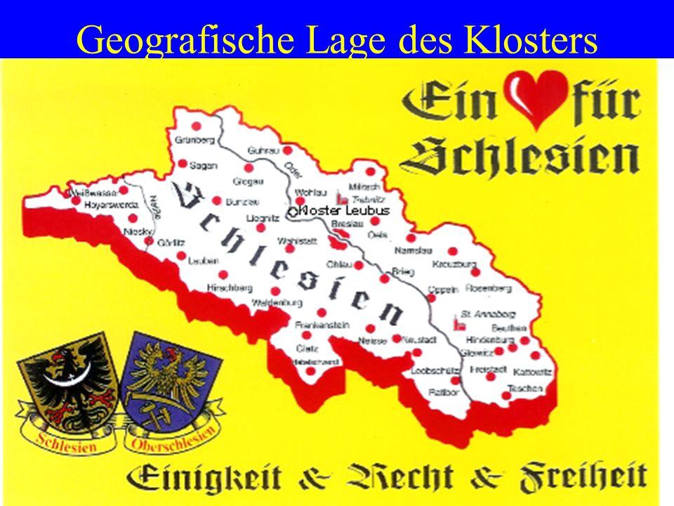 Geografische Lage des Klosters