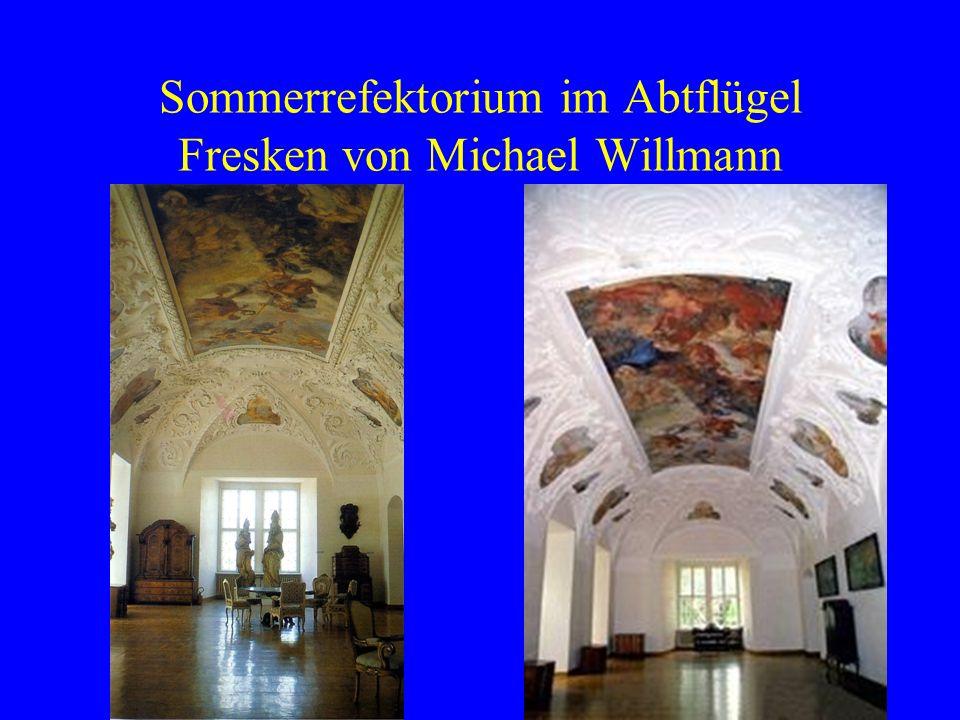 Sommerrefektorium im Abtflügel Fresken von Michael Willmann