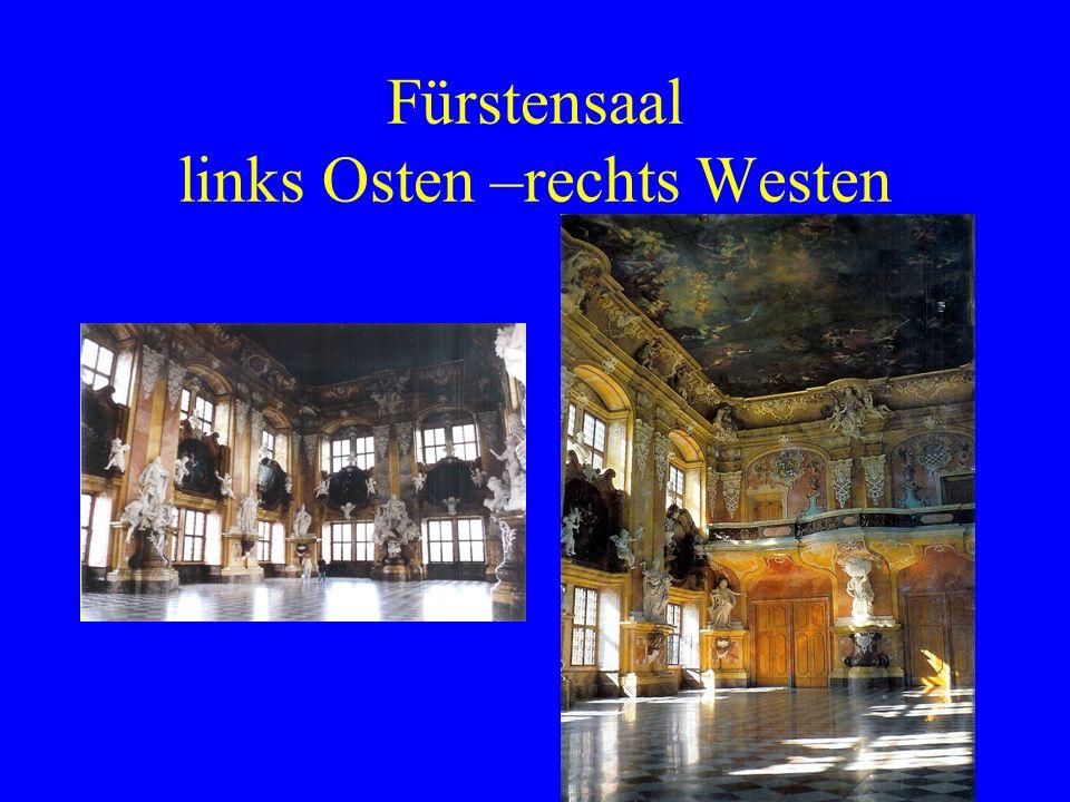 Fürstensaal links Osten –rechts Westen
