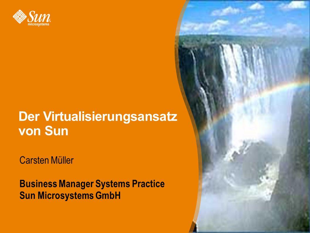 Der Virtualisierungsansatz von Sun Carsten Müller Business Manager Systems Practice Sun Microsystems GmbH