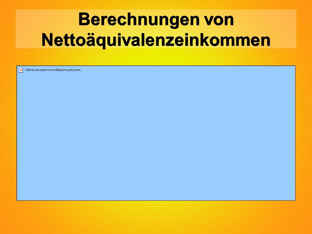 Berechnungen von Nettoäquivalenzeinkommen