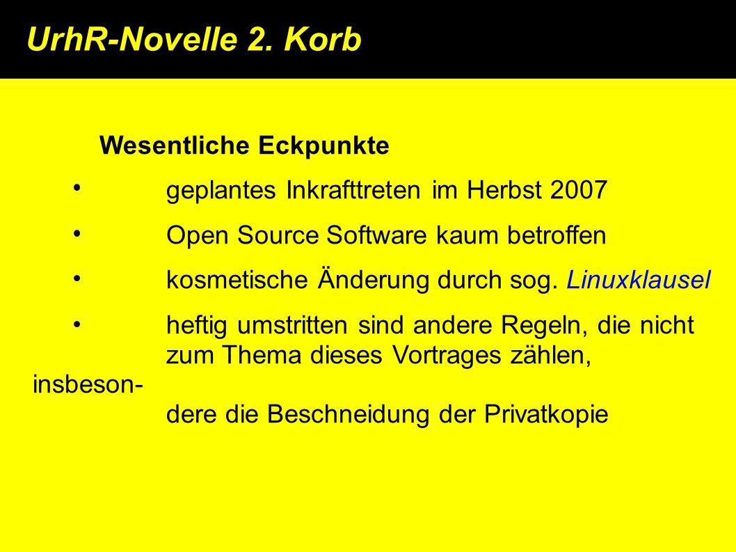 UrhR-Novelle 2.