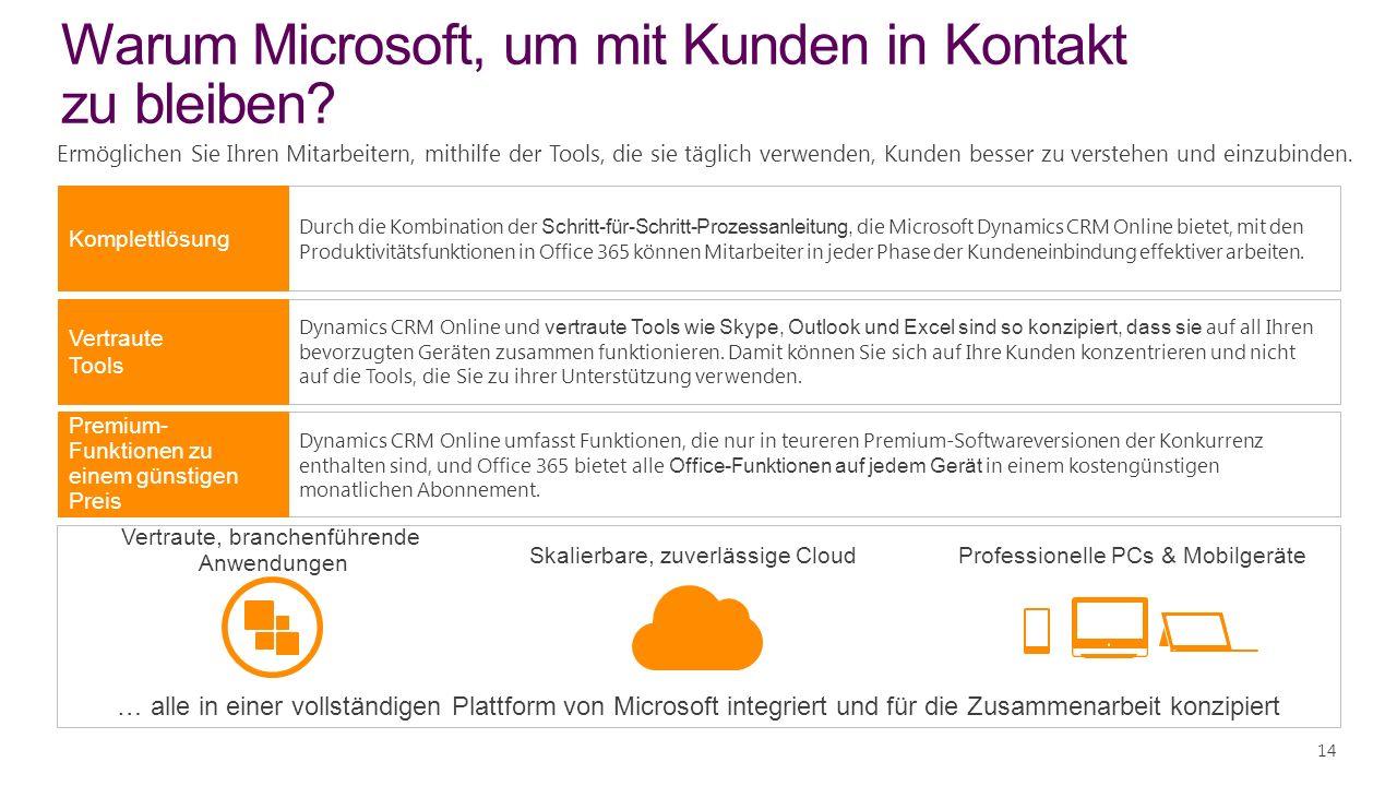 Warum Microsoft, um mit Kunden in Kontakt zu bleiben.