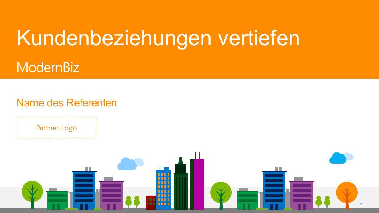 Kundenbeziehungen vertiefen Name des Referenten ModernBiz Partner-Logo 3