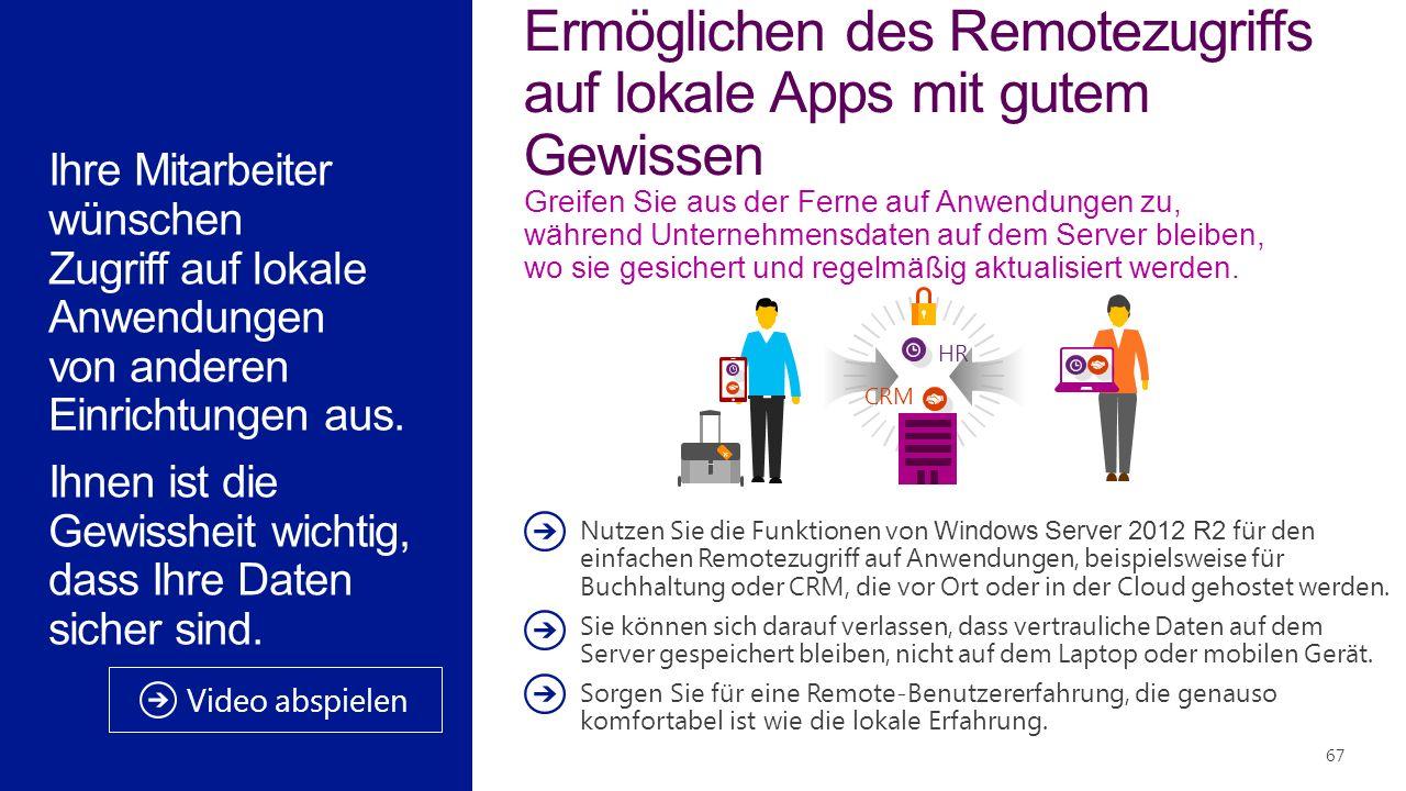Ermöglichen des Remotezugriffs auf lokale Apps mit gutem Gewissen Greifen Sie aus der Ferne auf Anwendungen zu, während Unternehmensdaten auf dem Server bleiben, wo sie gesichert und regelmäßig aktualisiert werden.
