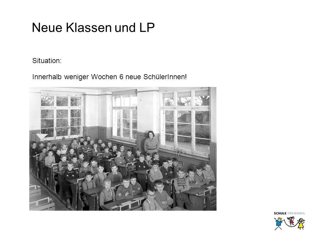 Neue Klassen und LP Situation: Innerhalb weniger Wochen 6 neue SchülerInnen!