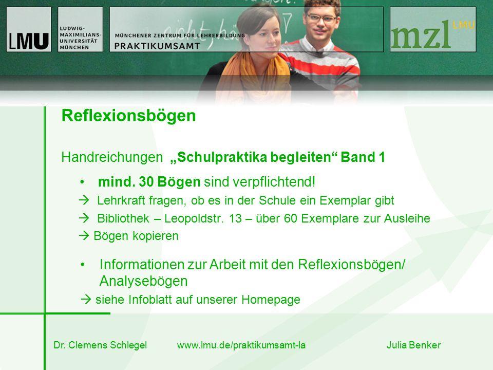 """Reflexionsbögen Handreichungen """"Schulpraktika begleiten Band 1 mind."""